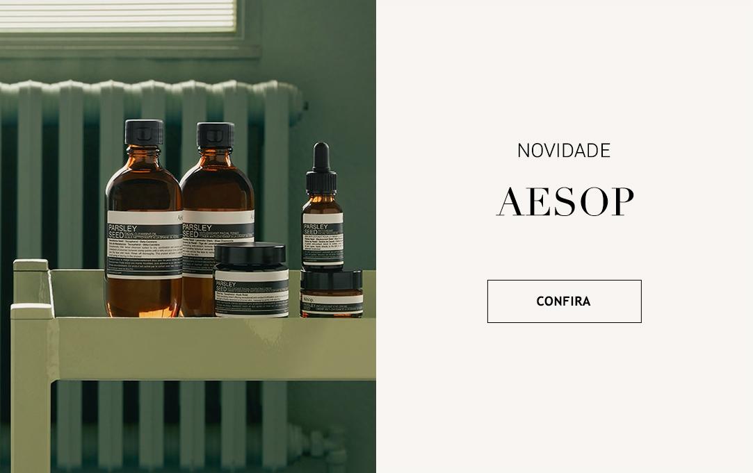 Aesop cuidados com a pele, cabelo e corpo skincare Brasil Online. Botão Comprar