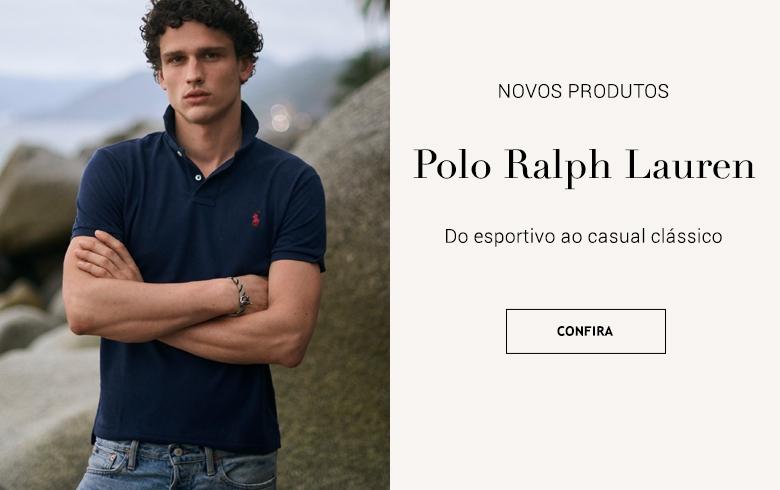 Polo Ralph Lauren vestuário esportivo e casual clássico. Nova Coleção Brasil Online. Botão Comprar.
