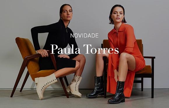 Moda Feminina. Papete Mulher. Calçados femininos. Paula Torres Brasil Online. Botão Comprar.