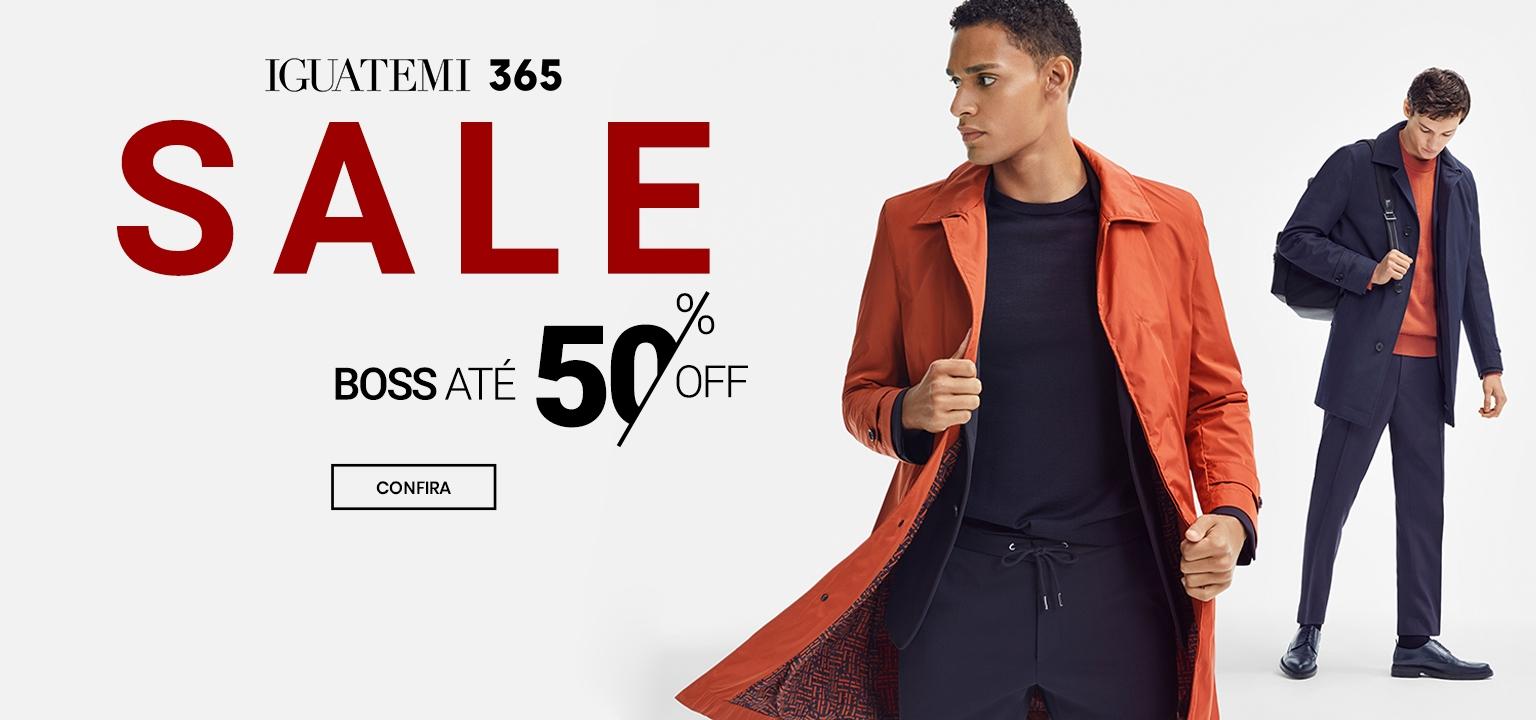 Casaco laranja e azul camisa escura e vermelha Hugo Boss, Brasil Online pela metade do preço