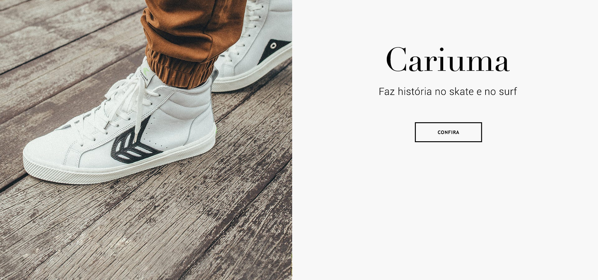 Moda sustentável patrocinador atleta olímpico surf skate Cariuma Brasil Online tênis