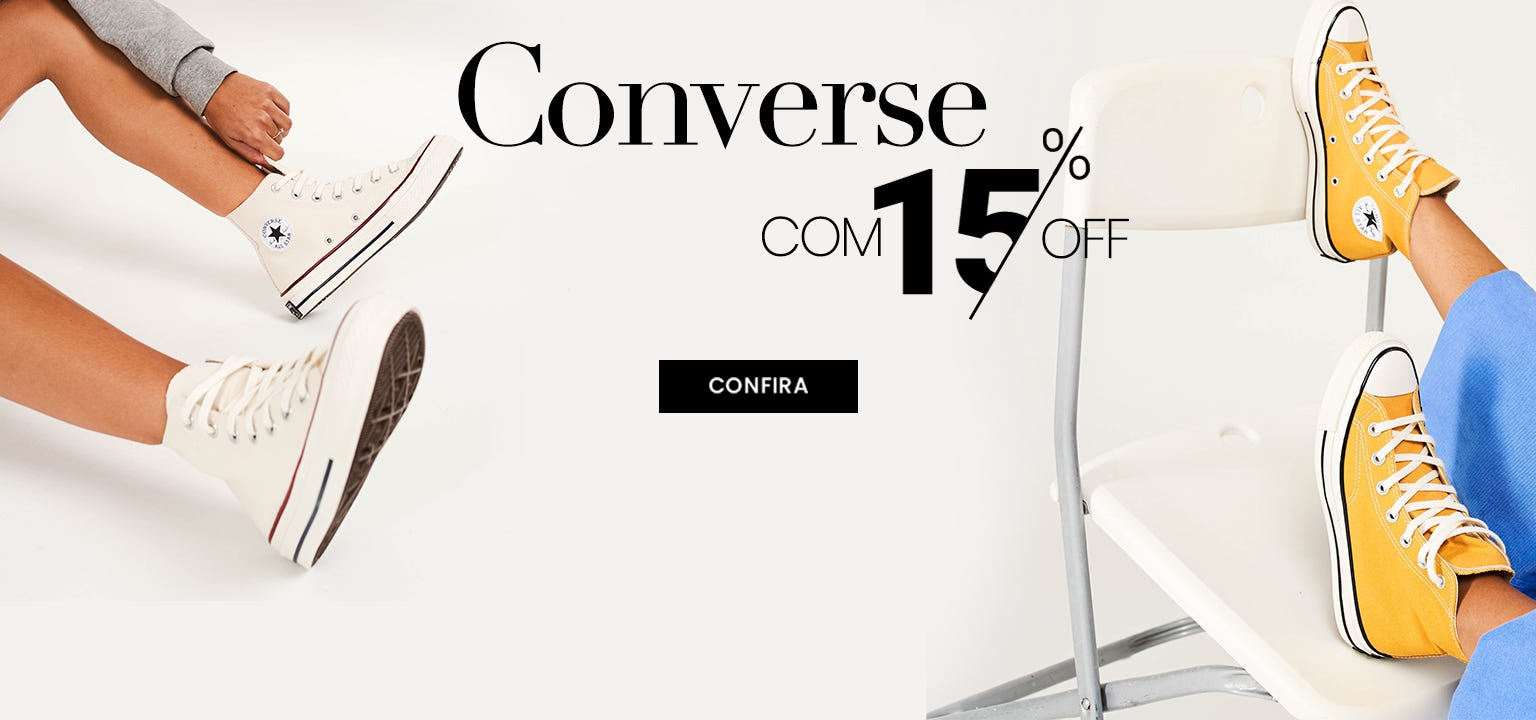 Tenis Converse com desconto. Modelos Tenis Converse. Confira.